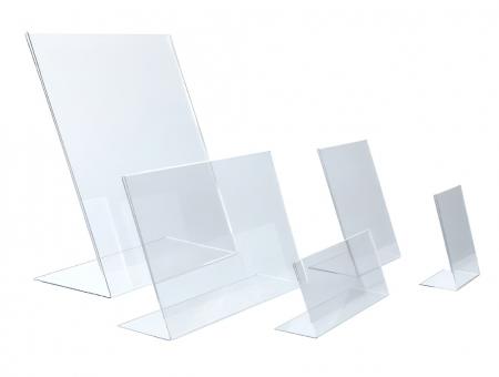 Porta Avvisi in Plexiglass Inclinato Verticale