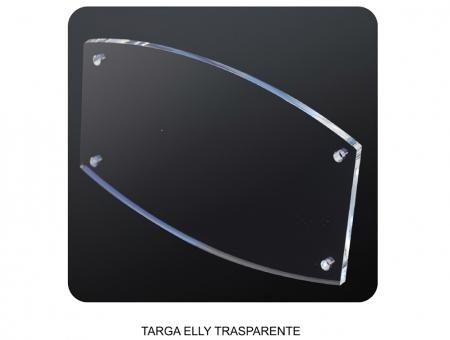 Targa in Plexiglass Trasparente Ellittica Spessore 8 mm