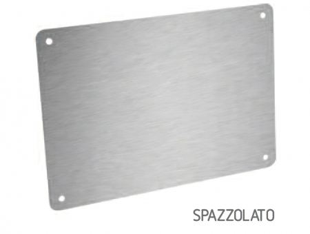 Targa In Eurobond Alluminio Spazzolato
