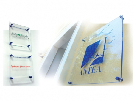 Targa in Plexiglass Trasparente Spessore 12 mm