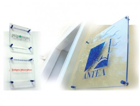 Targa in Plexiglass Trasparente Spessore 8 mm