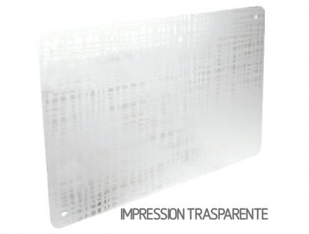 Targa In Perspex Impression Trasparente