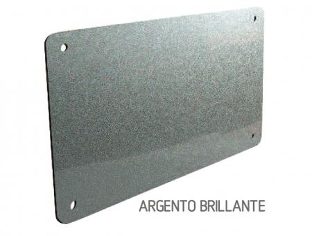 Targa In Perspex Duo Argento Brillante