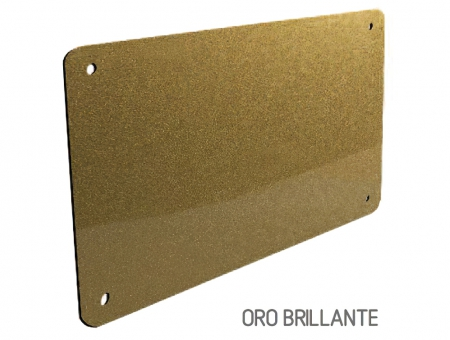 Targa In Perspex Duo Oro Brillante
