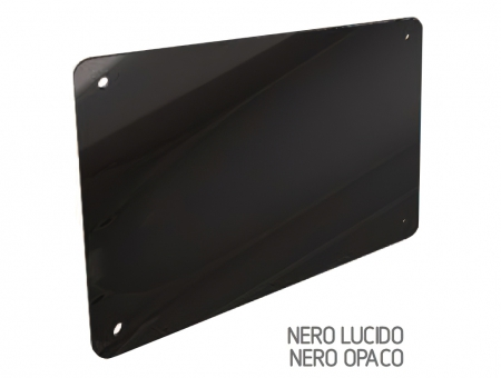 Targa In Perspex Nero Lucido