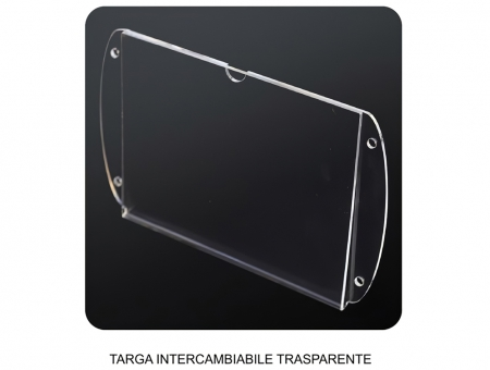 Targa in Plexiglass Intercambiabile Verticale