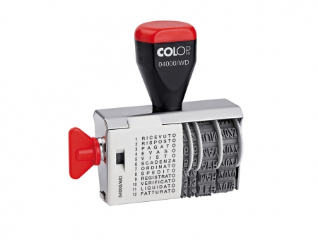 Colop® 04000/WD Polinomio/Datario Manuale con Datario
