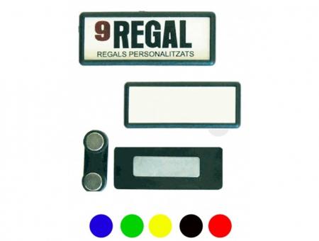 Badge Magnetico Rettangolare per Tessuto 18X50 mm