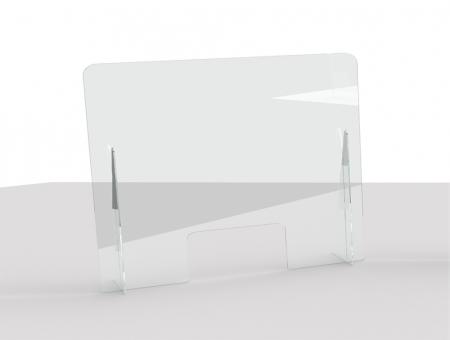 Parafiato in Plexiglass 80 x 66 cm con Feritoia e Piede Triangolare