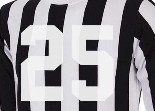 Esempio errore applicazione termosaldabile da taglio su maglietta sportiva